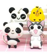 Keychain cartoon  panda  anime cat bear - $5.99