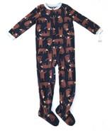 Boy Carters Fleece Footed Pajama Blanket Sleeper 7 8 10 12 14 Brown Bear... - $23.74