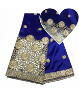 2018 Latest African George Lace Nigerian New Silk Sequins Fabric Party C... - $72.99