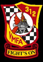 USMC VMFA-312 Checkerboards Sticker 4'' - $9.89
