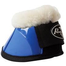 Med Professional Choice Flexible Horse Spartan Fleece Bell  Boots Royal ... - $43.55
