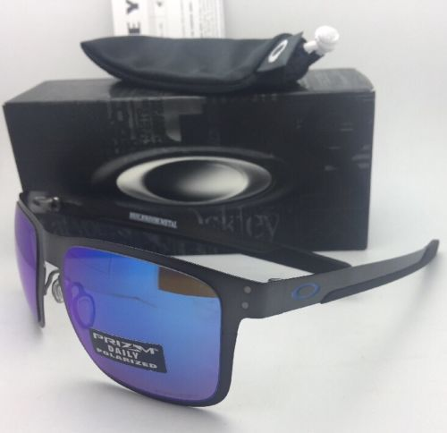 85570bb8e4 Polarized OAKLEY Sunglasses HOLBROOK METAL OO4123-07 Gunmetal w/ PRIZM  Sapphire