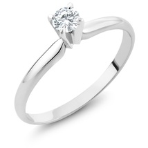 certified natural diamond jewelry 0 15 ct round cut diamond 14k white gold solitaire 6 thumb200