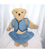 "American Girl Pleasant Company 16"" JOINTED TEDDY BEAR w/Outfit & Backpack - $22.96"