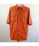 Enyce Orange Button Front Double Pocket Shirt Mens Sz 3XL - $26.03