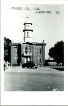 Vtg 1950s Kodak RPPC Russell Contea Tribunale Casa Jamestown Ky Street Vista W - $63.84
