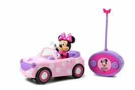 Disney Junior Minnie Mouse Roadster RC Car with Polka Dots 27 MHz Pink with W... - $36.62