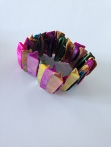 multicolored shell bracelet stretch - $19.99