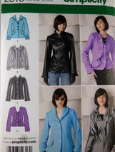 Simplicity 2313 Misses' Jackets Pattern sizes 6 8 10 12 14 Uncut factory folded - $6.92