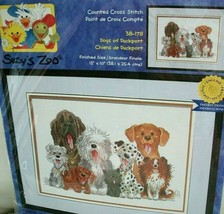 Suzy's Zoo Dogs of Duckport Counted Cross Stitch Kit 15 x 10 in Janlynn 2000 NOS - $24.74