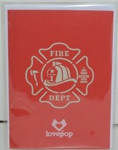Lovepop LP1519 Fire Truck Red Pop Up Card White Envelope Paper Cellophane Wrap image 1