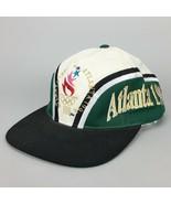 Vintage 1996 Atlanta Olympics Snapback Hat Cap Two-Tone Adjustable Scrip... - $49.99