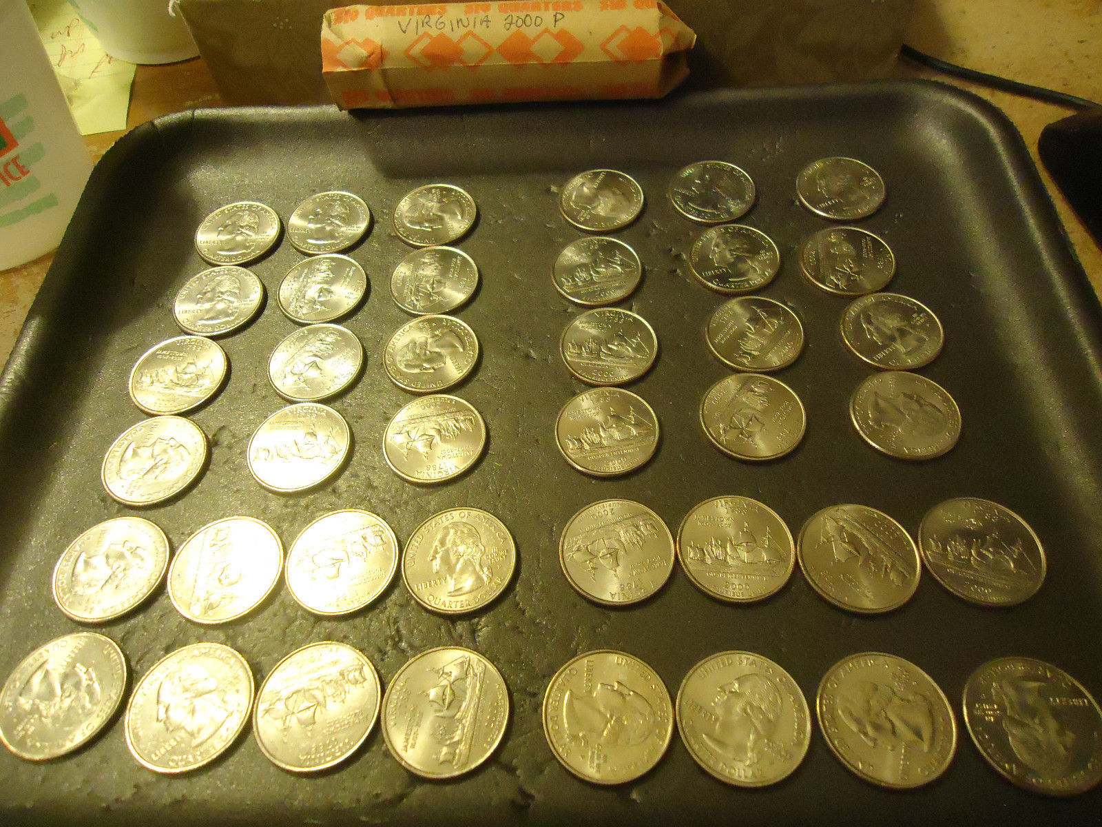 2000-P ROLL OF VIRGINIA QUARTERS  >> COMBINED SHIPPING < - $14.36