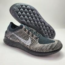 Nike Free RN Flyknit 2018 Womens 10.5 Moon Particle Black Shoes BQ8449-2... - $99.00