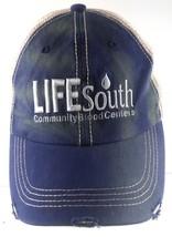 Life South Community Blood Centers Distressed Mesh Strapback Adjustable ... - $19.79