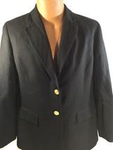 Talbots Women Black Blazer Jacket Petites 2 Golden  Buttons Only Jacket Size 14 - $25.25