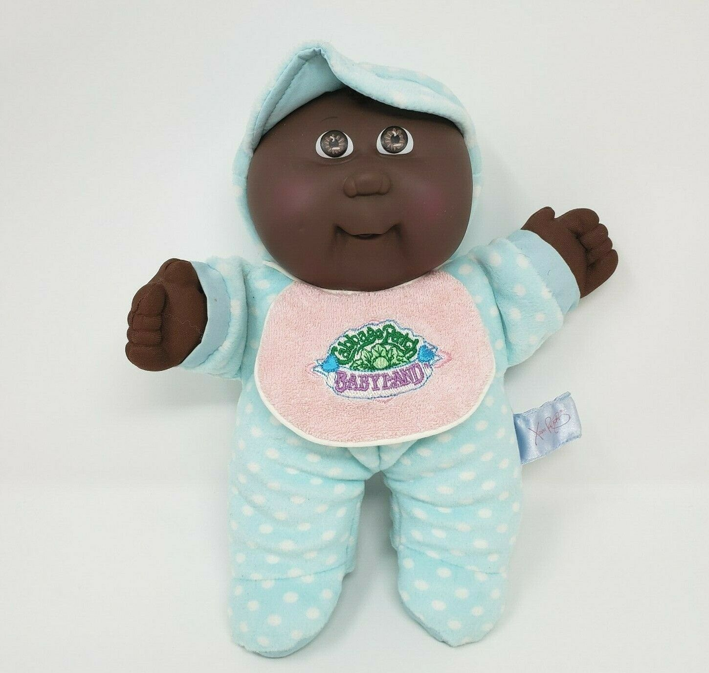 Primary image for VINTAGE CABBAGE PATCH KIDS BABYLAND AFRICAN AMERICAN STUFFED ANIMAL PLUSH DOLL