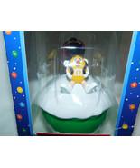 M Ms Red & Yellow Snowball Christmas Ornament Candy Dispenser NIB 2001 - $15.99