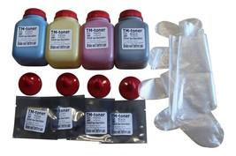 4-Color Toner Refill Kit + 4 Chips for Canon 116 imageCLASS MF8080Cw, LBP5050 - $27.84