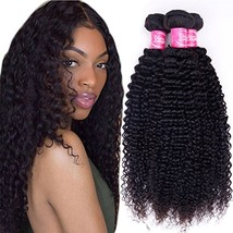 Brazilian Virgin Curly Hair 3 Bundles 10 12 14,300g 10A Unprocessed Brazilian Ki