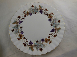 "Royal Albert Engand Bone China 7"" Plate LORRAINE grapes & leaves scallop... - $9.00"
