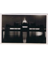 Hungary Postcard Budapest Parliament Illuminated - $4.74
