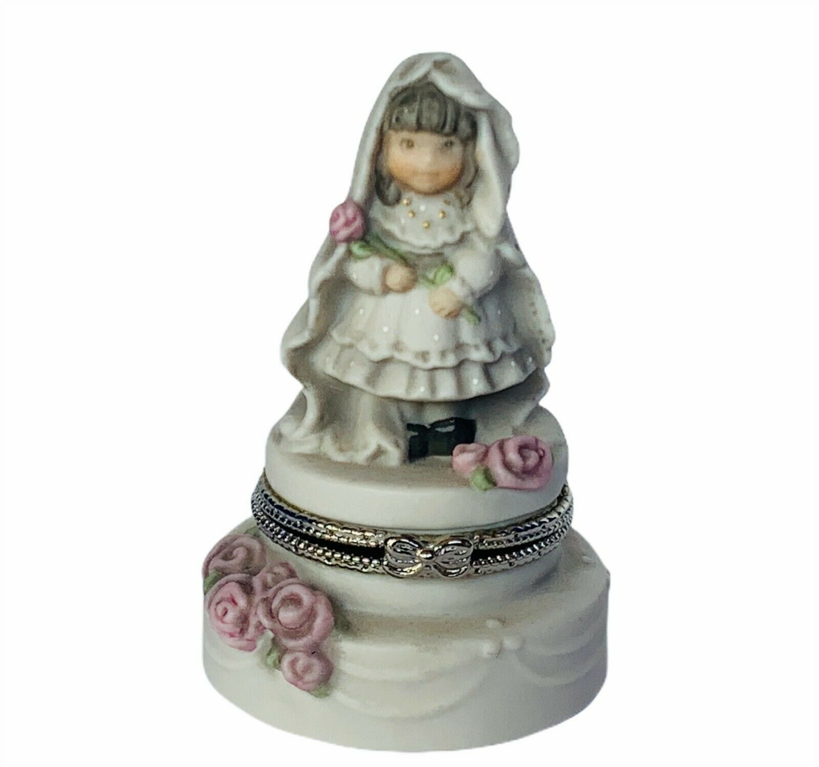 Primary image for Pretty as Picture Kim Anderson figurine Promises Love ring jewelry box Wedding