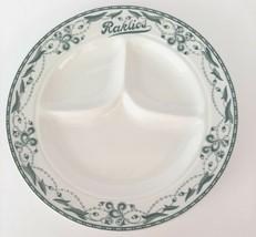 "Rare Vintage Raklios 1930's Chicago Restaurant Ware 10"" Divided Dinner P... - $49.95"