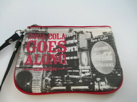 Coca-Cola Make-up Bag Wristlet Coke Goes Along London UK - $13.12