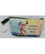 GANZ Brand If The Boot Fits Vintage Cowgirl Print Makeup Bag - $12.00