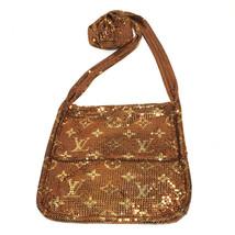 LOUIS VUITTON Monogram mesh Francis Pochette Shoulder Bag Gold M92288 - $850.00