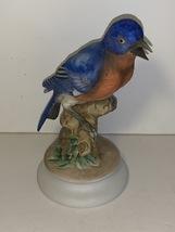 Vintage Lefton Blue Bird Figurine, KW1271 Lefton Bluebird, Blue Bird on ... - $12.00