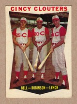 1960 Topps #352 Cincy Clouters Frank Robinson+Bell+Lynch Near Mint condition - $9.95