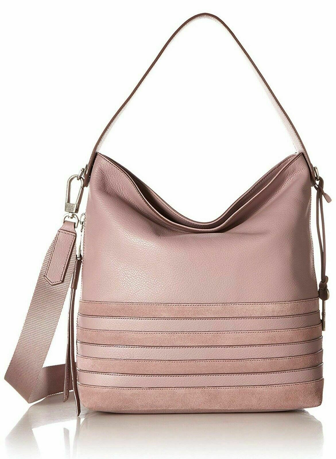 New Fossil Women's Maya Small Leather Hobo Bag Variety Colors