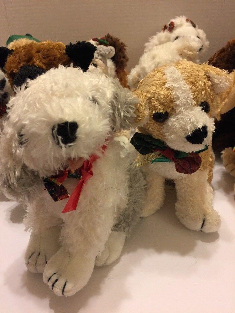 "The Twelve Dogs of Christmas Plush Complete Set 7"" Ea Vtg 1998 Rare Commonwealth"