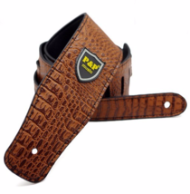 Brown Alligator Guitar super Belt PU Leather  - $21.00