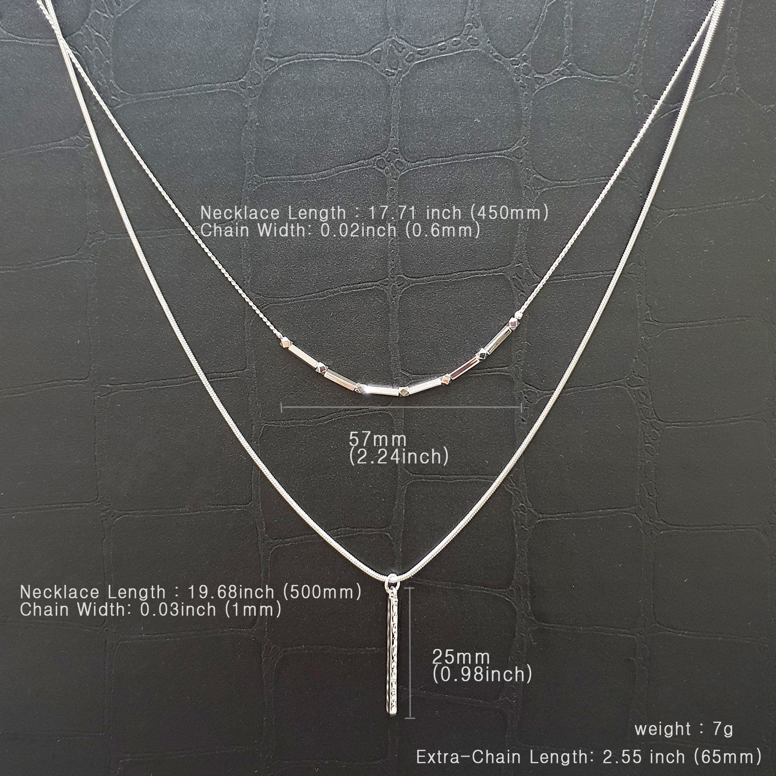 Layered Multi-Strand Necklaces Matinee Necklace Stick Pendant Women Fashion N13