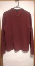 Sweater men size medium classic fit by express 100 % cotton color Maroon - $9.95