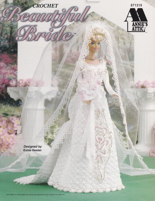 Primary image for Beautiful Bride Crochet Barbie Shoes Gloves Veil Slip Train Earrings Necklace