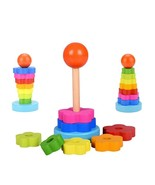 Education Toys Wooden 3d Puzzles Game Towers Teaser Maze Children Games ... - $7.82
