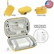 Electronic Accessory Organizer Travel Cable Cord Bag Portable (Yellow, L... - $26.82