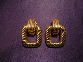 Joan Rivers Clip on Rigged Dangle Square Earrings - $24.75