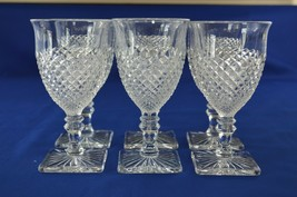 6 Westmoreland Glass English Hobnail Water Goblets #555/2 - $34.65