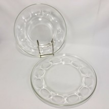 2 Pyrex Egg Plates Clear Glass Serving Platter VTG Round Tray Thick Dish... - $19.75