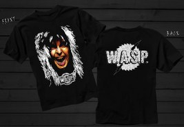 W.A.S.P.- American heavy metal band, Black T-shirt Short Sleeve (sizes:S... - $16.99+