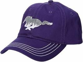 Ford Genuine Mustang Women's Ladies Sequin Pony Purple Baseball Cap Hat - $24.99
