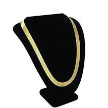 TUOKAY 18K Gold Herringbone Chain Necklace, 90s Fashion Hip Hop Flat Sna... - $12.72