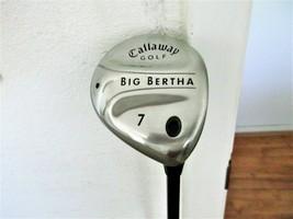 """Callaway Big Bertha RH 7 Wood. Gems 55w Graphite W/Head Cover. """"VERY GOOD"""" - $44.50"""
