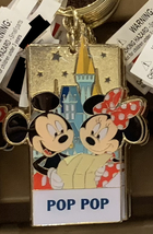 Disney Parks Mickey Minnie Mouse Character Metal Keychain Pop Pop NEW - $21.90