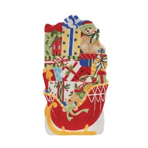Fitz & Floyd Candy Cane Santa Elongated Tray Christmas Serving Dish NEW ... - $22.99